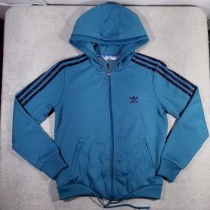 Adidas Trefoil 3 Stripes Zip-Up Hoodie Sweatshirt